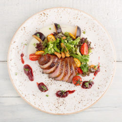 Duck with Spiced Plum Sauce