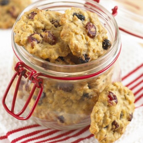 Chewy Oat, Berry and Orange Cookies