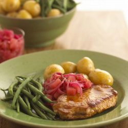 Pan Fried Pork with Apple Cider Relish