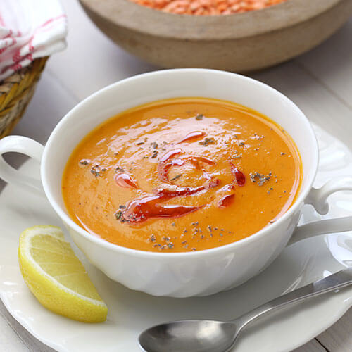 Spiced Red Lentil and Tomato Soup