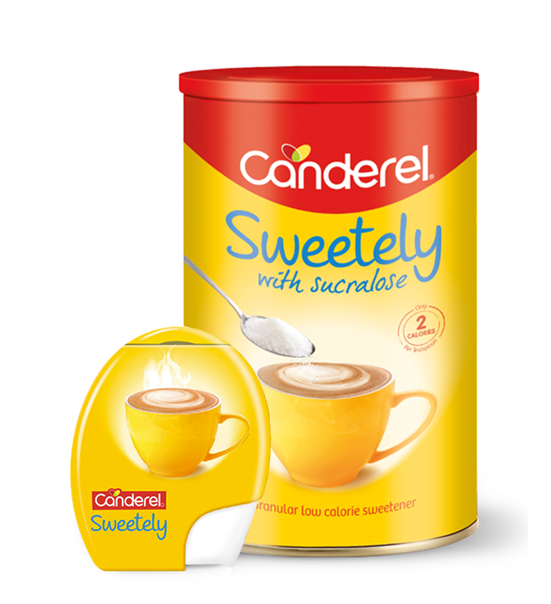 Canderel Sweetely and tablets packshots